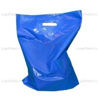 Пакет ПНД с вырубной ручкой 60х70 и донной складкой заказать в интернет-магазине