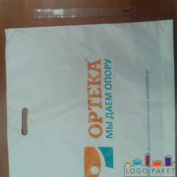Пакет ПНД с вырубной ручкой 60х50 и донной складкой