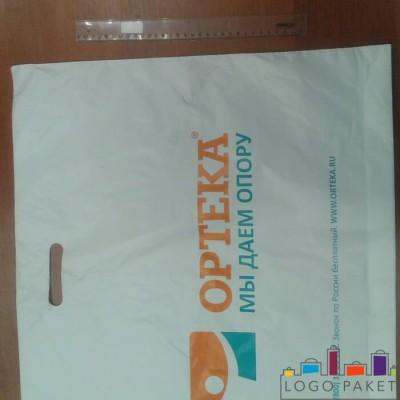 Пакет с вырубной ручкой и донной складкой ПНД  70х60