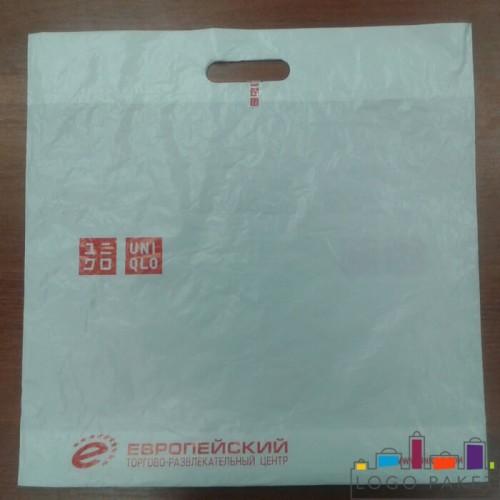 Пакет ПНД с вырубной ручкой 30х40 и донной складкой