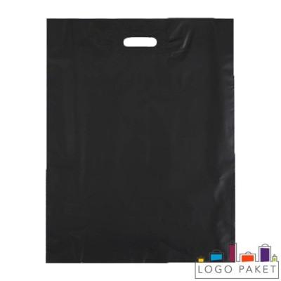 Полиэтиленовые пакеты с вырубной ручкой черные