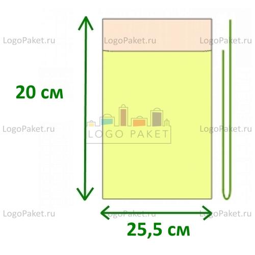 Пакет ПП 25,5х20 с клеевым клапаном