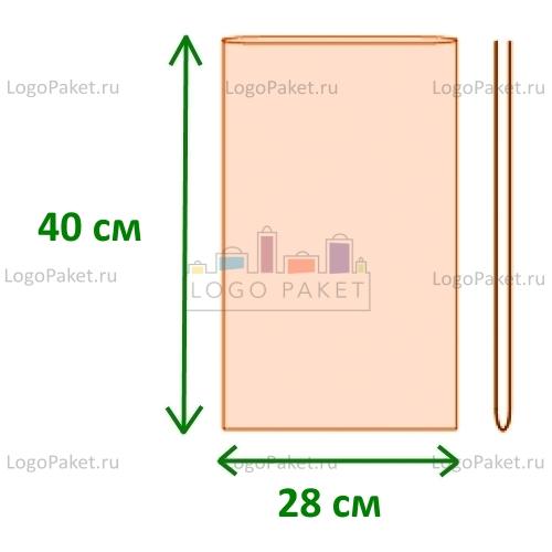 Полипропиленовые пакеты без клапана ПП 28х40