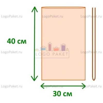 Полипропиленовые пакеты без клапана ПП 30х40