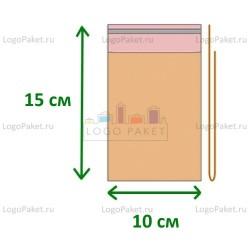 Пакет ПП 10х15 с клеевым клапаном