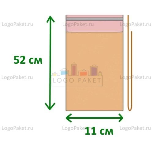 Пакет полипропиленовый 11х52 с клеевым клапаном
