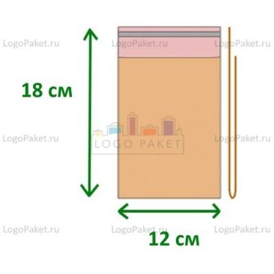 Полипропиленовые пакеты ПП 12х18 с клеевым клапаном