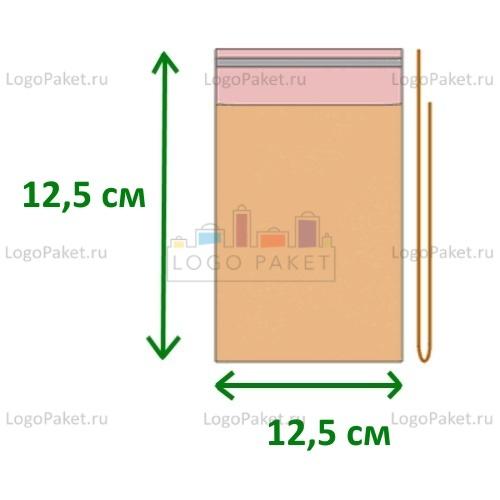 Пакет полипропиленовый 12,5х12,5 с клеевым клапаном