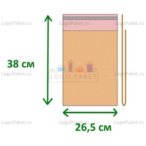 Пакет полипропиленовый 26,5х38 с клеевым клапаном