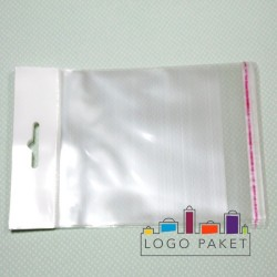 Пакет ПП 12,5х18 с еврослотом и клеевым клапаном