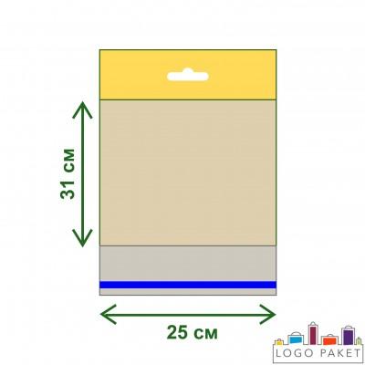 Полипропиленовые пакеты с еврослотом и клеевым клапаном ПП 25х31