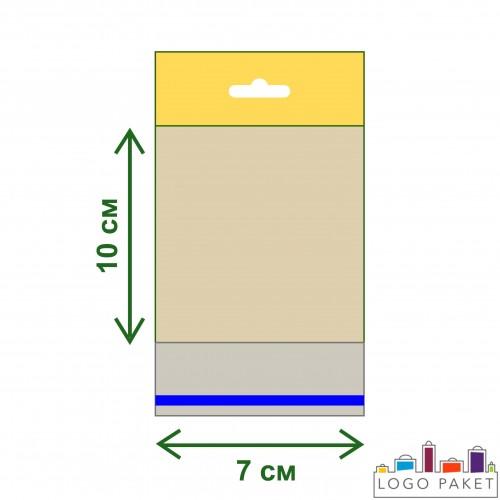 Пакет ПП 7х10 с еврослотом и клеевым клапаном