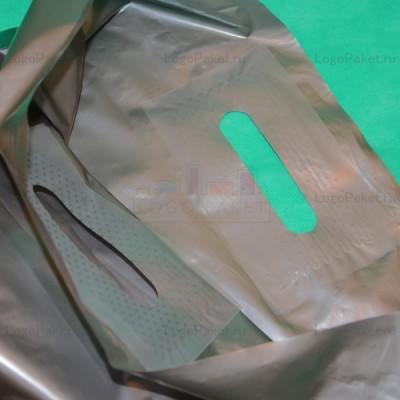 Пакет ПСД с вырубной ручкой 20х30 и донной складкой