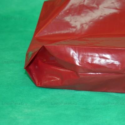 Пакет с вырубной ручкой и донной складкой ПСД 60х70