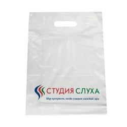 Пакет ПВД 30*40 см с вырубной ручкой и донной складкой