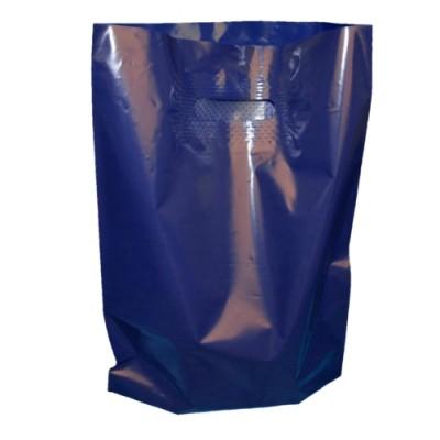 Пакет с вырубной ручкой и донной складкой ПВД 30*40 см
