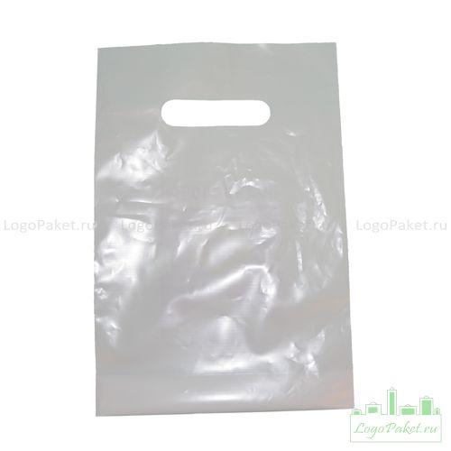 Пакет ПВД 20х30 см с вырубной ручкой и донной складкой
