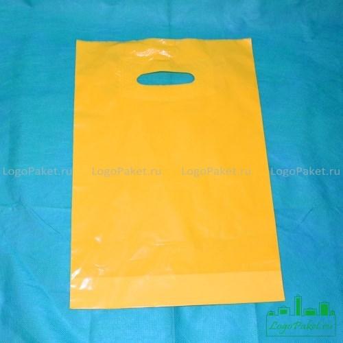 красный пвд пакет 50х60 см с логотипом