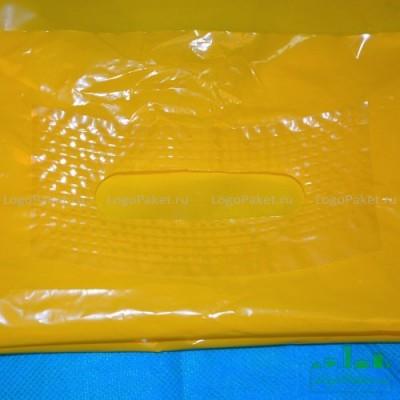 Пакет ПВД 50*60 см с вырубной ручкой и донной складкой