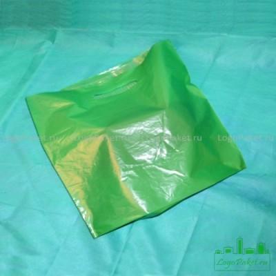 Пакет ПВД 60*50 см с вырубной ручкой и донной складкой