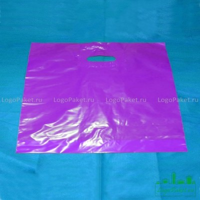 Пакет ПВД 70*60 см с вырубной ручкой и донной складкой