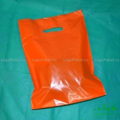 Пакет ПВД 60*70 с вырубной ручкой и донной складкой на заказ