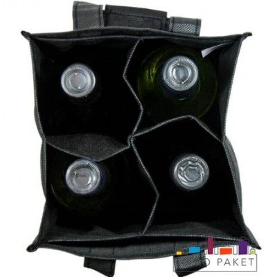 Сумка из спанбонда для бутылок 18х28х18 (4 бутылки)