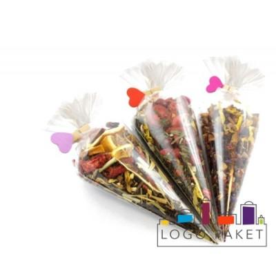 Полипропиленовые пакетики треугольные для орехов и конфет