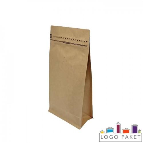 Пакет  для кофе с боковыми складками (фальцами) и клапаном дегазации
