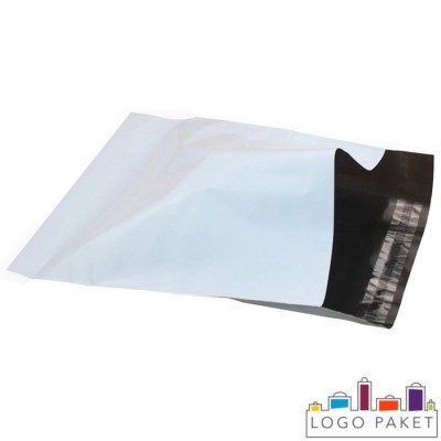 Курьерские пакеты белые без кармана вид внутри