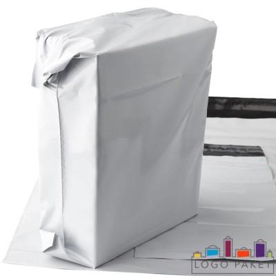 Курьерские пакеты белые без кармана  с упакованным товаром