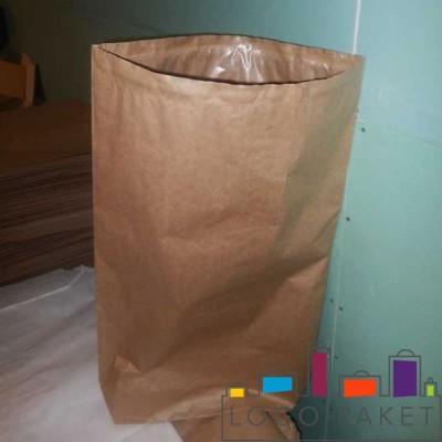 Бумажный мешок открытого типа бежевый