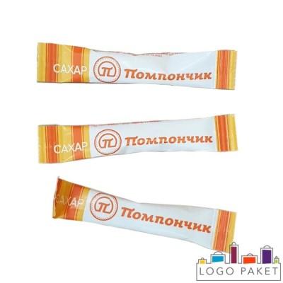 Пакетики для сахара с логотипом из бумаги (стик пакеты)
