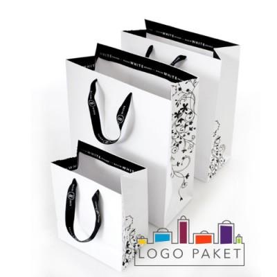 Пакеты для одежды из дизайнерской бумаги