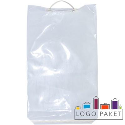 Пакет МПП с пластиковой ручкой и клейким клапаном
