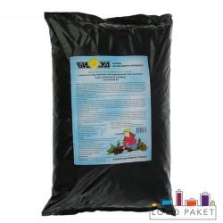 Полиэтиленовый пакет с черным подслоем для грунта прозрачный с логотипом