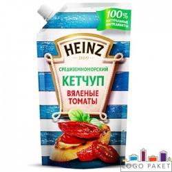 Пакет Дой-пак (doy pack) для кетчупа  с боковым штуцером