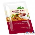 Пакет саше для кетчупа с тремя или четырьмя швами по периметру
