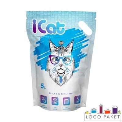 Пакет дой-пак для наполнителя кошачьего туалета с ручкой сбоку