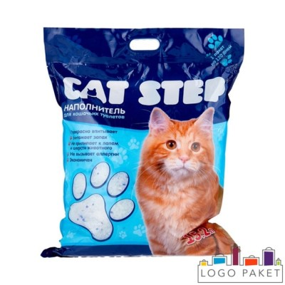 3-х шовный пакет для наполнителя для кошек с вырубной ручкой