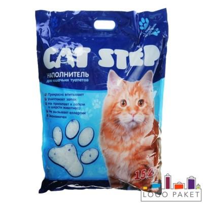 Трехшовный пакет для наполнителя кошачьего туалета с вырубной ручкой под запайку