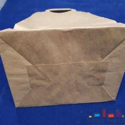 Крафт-пакет с донной складкой для угля