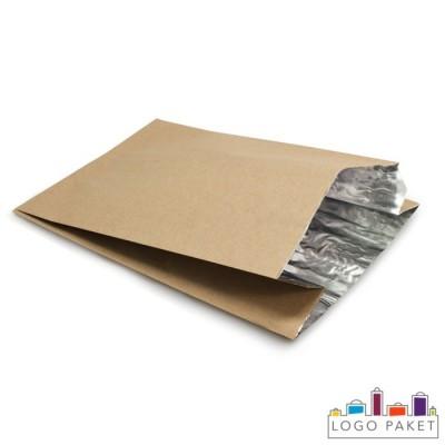 Фольгированный крафтовый пакет c V-образным дном и боковыми складками