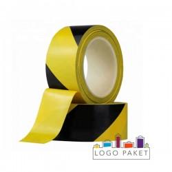 Лента сигнальная желто-черная 50 мм x 50 м