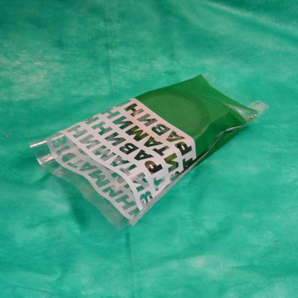 экопакет для зелени зеленого цвета
