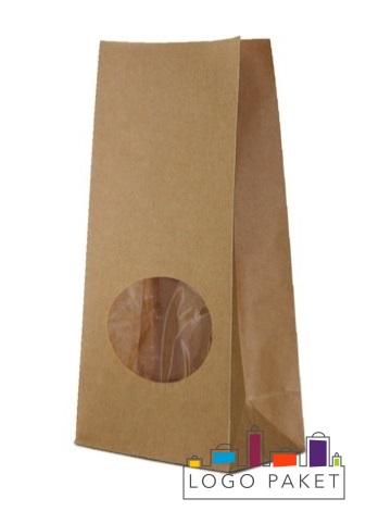 Готовые крафт-пакеты с окошком
