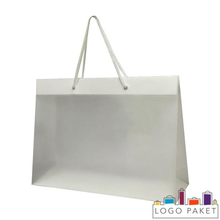 Готовый ПНД пакет полупрозрачный 100 мкм с люверсами серебро