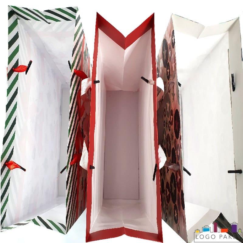 Праздничные пакеты бумажные вид внутри