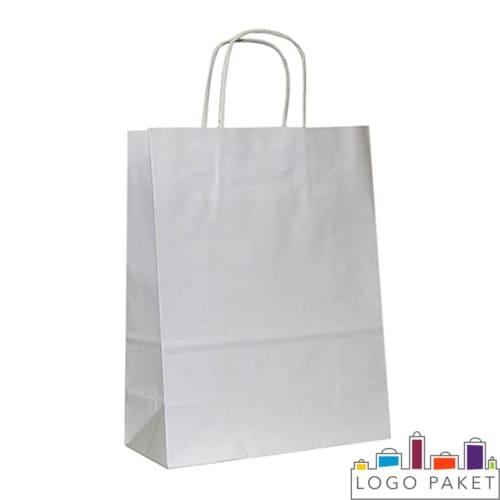 Крафт-пакеты с крученой ручкой белый
