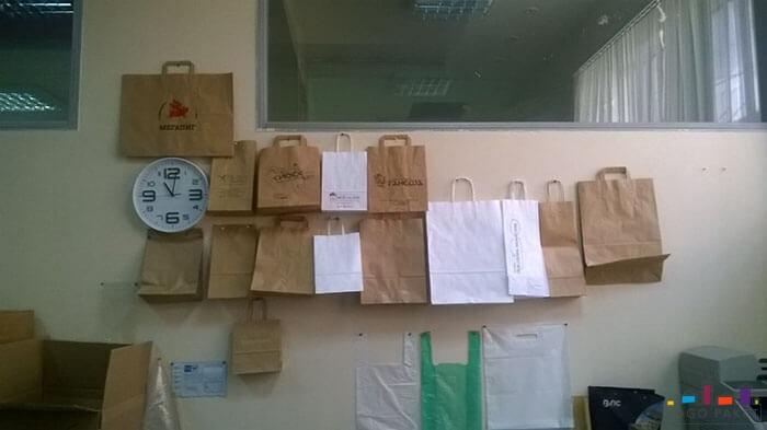 пакеты бумажные в офисе